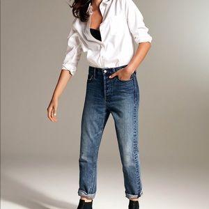Denim forum Aritzia dark ex boyfriend jeans